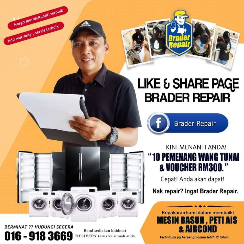 Brader Repair  ads by Servispro.my